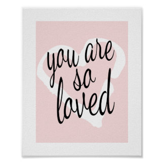 U bent de zo van Gehouden Zoete Roze Druk van de Poster
