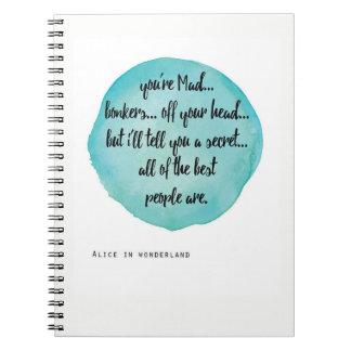 U bent Gekke Gek, Alice in het notitieboekje van Ringband Notitieboek