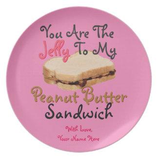 U bent Gelei aan Mijn Liefde van de Sandwich van Bord