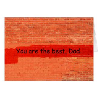 """""""U bent het beste Klantgerichte het Vaderdag, van Wenskaart"""