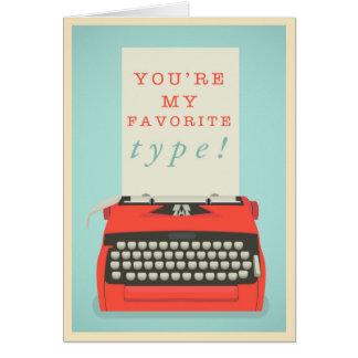 U bent Mijn Favoriet Type Briefkaarten 0