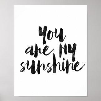 U bent Mijn Zonneschijn Poster