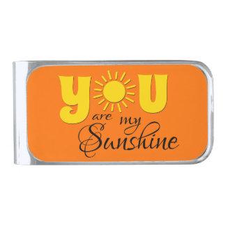 U bent mijn zonneschijn verzilverde geldclip