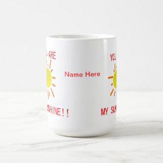 U bent mijn zonneschijnmok koffiemok