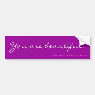 """""""U bent mooi."""" De Sticker van de bumper"""