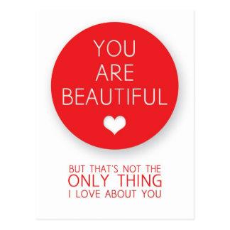 U bent Mooi maar dat is niet Enig Ding I Briefkaart