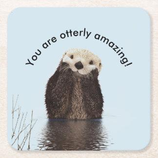 U bent Otterly Verbazend Grappige Woordspeling met Vierkante Onderzetter