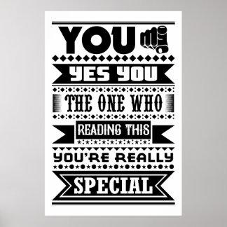 U bent Speciaal (Motivatie Citaat) Poster