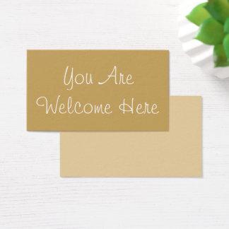 """""""U bent Welkom hier"""" omvat Nieuw iemand Visitekaartjes"""