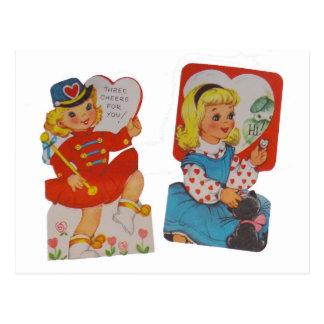 U bent zo GROOT!  Vintage Valentijn Briefkaart