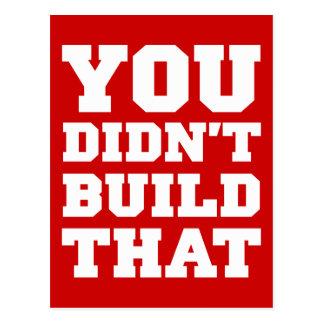 U bouwde niet dat - Verkiezing 2012 Briefkaart
