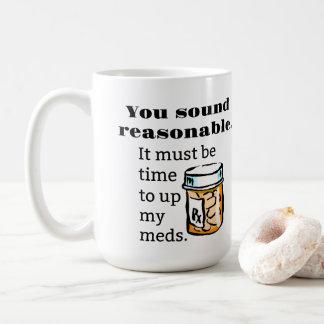 U Correcte Redelijke Tijd aan Omhooggaande Koffiemok