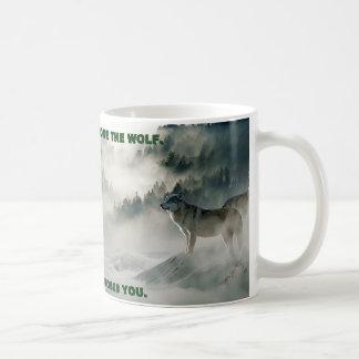 """""""U de Scène van de Winter kiest niet van de Wolf"""" Koffiemok"""