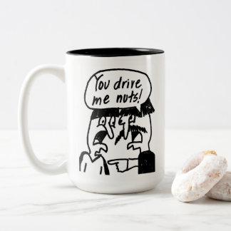 U drijft me de Mok van de Koffie van Noten