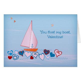 U drijft mijn boot, Valentijn - de Kaart van de