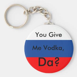 U geeft, me Wodka, DA? Sleutelhanger