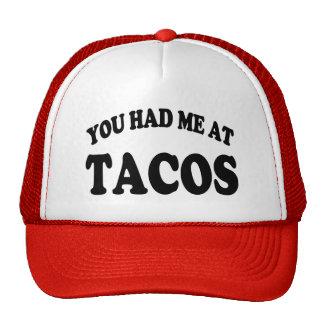 U had me bij grappig het spreukpet van Taco's Trucker Cap