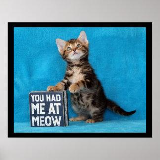 U had me bij het Katje van Bengalen van de Miauw Poster
