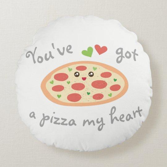 U hebt een Pizza Mijn Woordspeling van de Liefde Rond Kussen