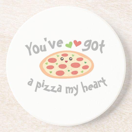 U hebt een Pizza Mijn Woordspeling van de Liefde Zandsteen Onderzetter
