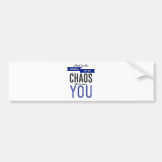 U in de Chaos Bumpersticker