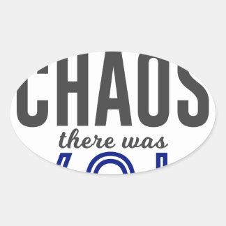U in de Chaos Ovale Sticker