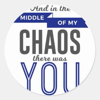 U in de Chaos Ronde Sticker