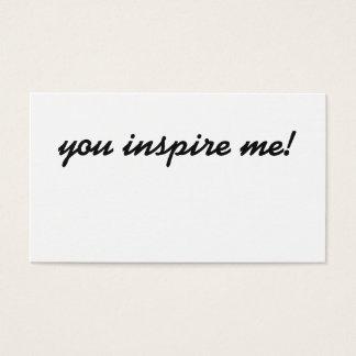 U inspireert me! visitekaartje visitekaartjes