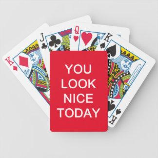 U kijkt vandaag Nice Bicycle Speelkaarten