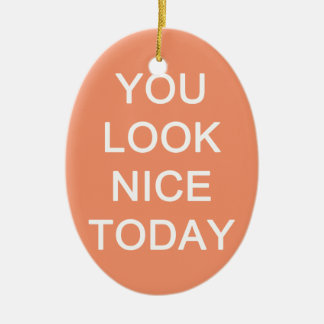 U kijkt vandaag Nice Keramisch Ovaal Ornament