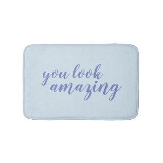 U kijkt verbazende blauwe kalligrafie badmatten