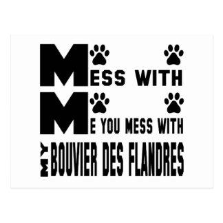 U knoeit met mijn Bouvier des Flandres Briefkaart