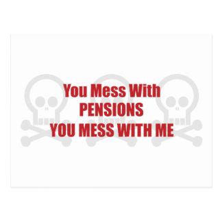U knoeit met Pensioenen u met me knoeit Briefkaart