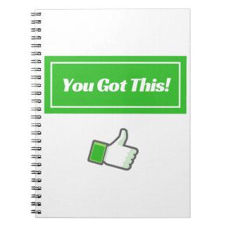 U kreeg dit! - Notitieboekje Notitieboek