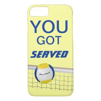 U kreeg Gediende iPhone 7 van het Volleyball van iPhone 8/7 Hoesje