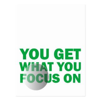 U krijgt Wat u op concentreert Briefkaart