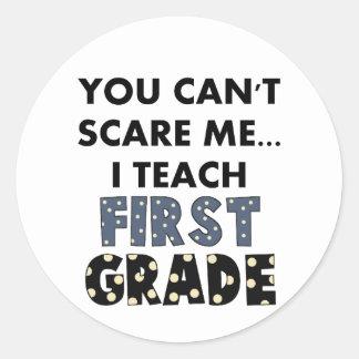 U kunt niet me doen schrikken… ik onderwijst ronde sticker