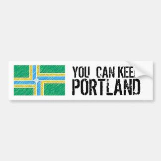 U kunt Portland houden Bumpersticker
