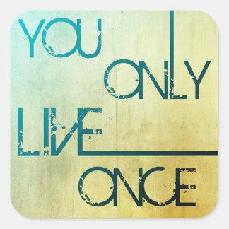 U leeft slechts eens - YOLO Stickers