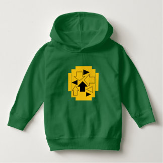 U ❤️ Luv van Luv me peuterpijlen op groene hoodie