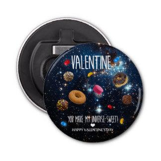 U maakt tot mijn heelal zoet Valentijn Button Flesopener