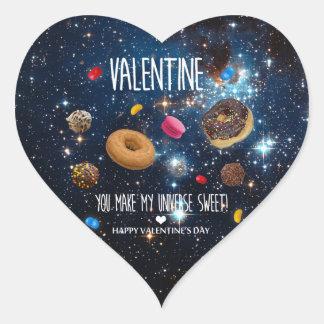 U maakt tot mijn heelal zoet Valentijn! Hart Sticker