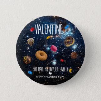 U maakt tot mijn heelal zoet Valentijn Ronde Button 5,7 Cm