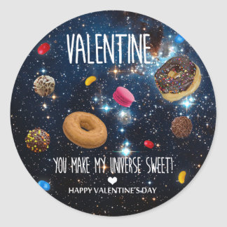 U maakt tot mijn heelal zoet Valentijn Ronde Sticker