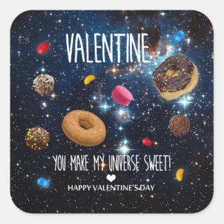 U maakt tot mijn heelal zoet Valentijn Vierkante Sticker