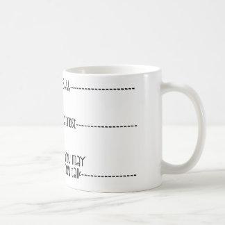 U mag nu spreken koffiemok