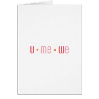 U + Me Wenskaart (Rood en Roze)