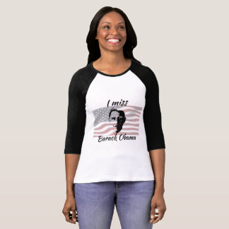 U Misser Barack Obama American Flag Overhemd T Shirt