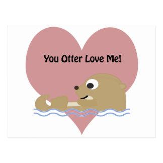 U Otter houdt van me Briefkaart