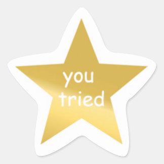 U probeerde Sticker